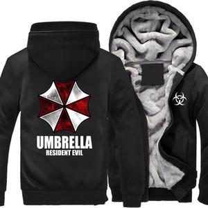 Resident Evil paraguas de invierno impreso Hood Men Warm Fleet Hoodies otoño ropa sudaderas hombres mujeres chaqueta moda sudadera con capucha streetwear
