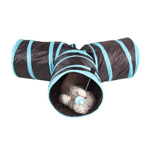 Pliable 3 trous Pet Cat Tunnel Jouets Indoor Outdoor Pet Chats Formation Jouet Chaton Lapin Drôle Cat Tunnel House Jouets