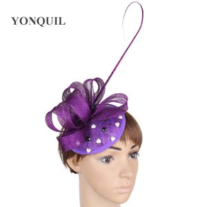 Enchanting 15 colors available sinamay material fascinator headwear race hat event hair accessories free shipping FNR151102