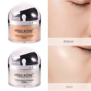 SıCAK Özledim gül yüz makyaj 2 in 1 pürüzsüz gevşek toz fırça ile glitter altın göz farı kontur paleti muz tozu