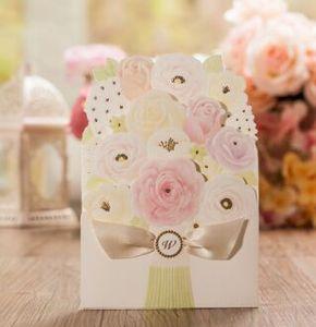 Inviti di nozze gratuiti Personalizza il motivo interno del foglio Modelli di fiori Partecipazioni di nozze Partecipazioni di nozze CW5139