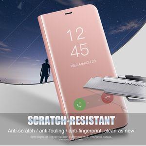 Klare Spiegel Smart Case für Redmi Note 5 Pro 4X 5A 5 Plus Note 4 4X 3 Ledertasche für Xiaomi 8 SE 6 6X 5X 5C A1 A2 Mix 2 Cover