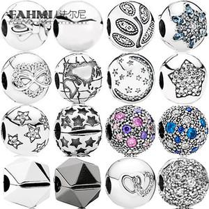 Fehmi% 100 925 Gümüş 1: 1 Charm Black Rock Yıldız İMZA Pavé Yıldız KÜRE Özet Yıldız Taşlı Boncuk Kozmik