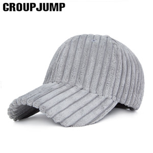 GROUP JUMP Fashion Winter Berretto da baseball Donna Spessore regolabile Inverno Bone Caldo Sport Caps Uomo Colore solido Gorras