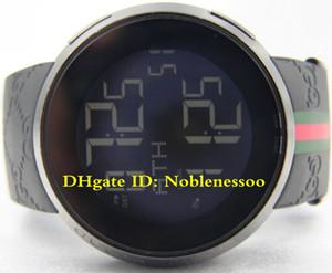 3-Art-heißen Verkauf in Box Mens 114 schwarz PVD-Kautschukband 44mm Digitale YA114207 Gummi-Armband-Quarz-Sport Herrenuhr Unisex Uhr