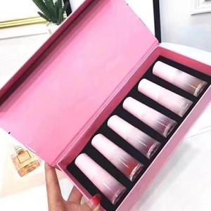 Известного бренда Giorgio персик 6 цвет блеск для губ жидкость помада 6шт/комплект с розовый комплект коробка