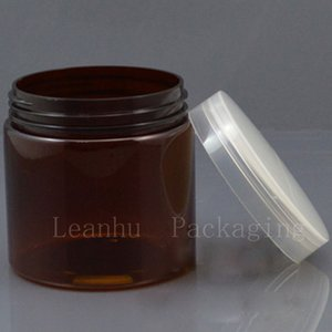 Brown Plastic Cream Bottle,Empty Cream Jars Cosmetic Packaging,200CC Refillable Personal Care Cream, Lotion Container