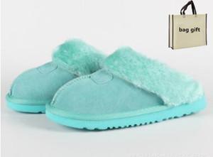 Австралия классический WGG теплый мех slippCotton тапочки мужчины и женщины тапочки короткие сапоги Женские ботинки снега сапоги хлопок тапочки слайды