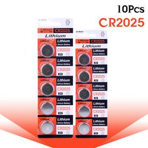 Paquete 100% original 10 unids 2025 CR2025 BR2025 DL2025 KCR2025 L12 Batería 3V Botón de litio / Pilas de batería de baterías