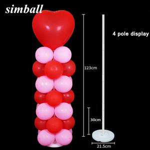 2pcs Luftballons Column Stand Kits Arch Stand mit Frame Base und Pole für Hochzeit Party Decor Birthday Party Decoration Kids