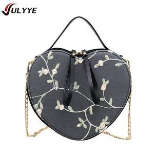 YULYYE Design Ladies Personality Heart-shaped Lace Chain Shoulder Bag Girl Heart Favorite Fashion Fresh Messenger Bag