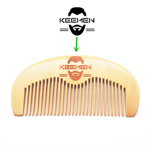 MOQ 500pcs Your LOGO Customized Private Label Combs Engraved Logo Wood Comb Beard Comb Wooden Hair Comb Beauty Barber Shop Promotion Gifts
