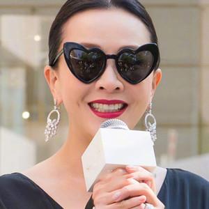 Peekaboo love heart occhiali da sole da donna cat eye vintage regalo natalizio nero rosa cuore rosso occhiali da sole per donna uv400