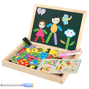 2018 맘보 만화 나무 다기능 아기 만화 퍼즐 장난감 자기 드로잉 보드 어린이 조기 교육 장난감 3D 지그 소 퍼즐