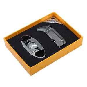Новое прибытие COHIBA высококачественный набор сигар с реактивным пламенным ветрозащитным фонариком и резаком для сигар из нержавеющей стали