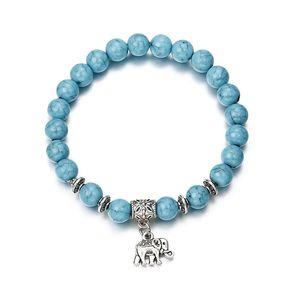 2018 Bracciale Classic Acrylic Blue Beaded Bracelets for Men Women Best Friend Caldo popolare