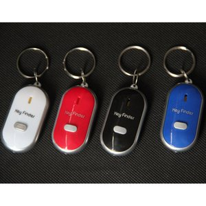 Hot sale Anti Lost LED Key Finder Locator 4 Colors Voice Sound Whistle Control Locator Keychain Control Torch Card Blister Pack HH7-926