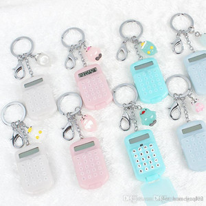 Fashion Cute Mini Pocket Calculator Keyring Key Chain Portable calculator Mixed Random Colors 17111705