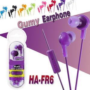 Gumy Наушники Наушники HA FR6 Наушники Gumy Plus Внутренняя гарнитура с удобной посадкой Звукоизоляция с микрофоном Пакет Nano Colours