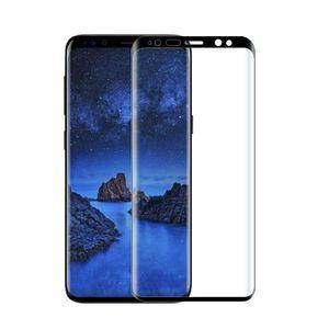 100 pcs atacado prémio protetor de tela de vidro temperado para samsung galaxy s9 s9 mais 3d curvo borda tela cheia capa protetora filme
