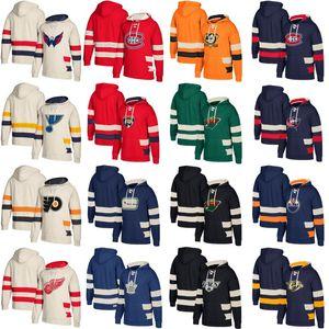 Maglia da baseball con cappuccio da hockey Washington Capitals Montreal Canadiens Vancouver Canucks Columbus Blue Jackets Minnesota Wild Jerseys Custom