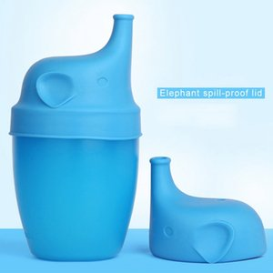 60pcs Silicone Sippy Lids for Baby Drinking Silicone Sippy Lids Make Most Cups Sippy Leak Proof Elephant Design Anti-overflow Cup Lid