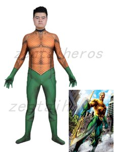Costume Aquaman 3D | Aquaman Skin Cosplay Costume Spandex Lycra Zentai Cosplay Costume De Fête D'halloween