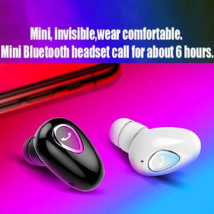 YX-01Mini auriculares inalámbricos Bluetooth Headset BT4.1 auriculares en la oreja deportes Sweatproof auriculares con ganchos para los oídos Mic con caja al por menor