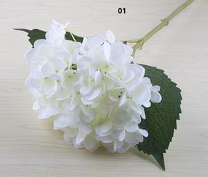 인공 수국 꽃 머리 47cm 가짜 실크 단일 수국 웨딩 센터 피스 홈 파티 장식 꽃 결혼식 SF020