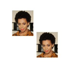 Worth buying hot brazilian Hair African Ameri short kinky curly wigs simulation human hair short curly wig in stock