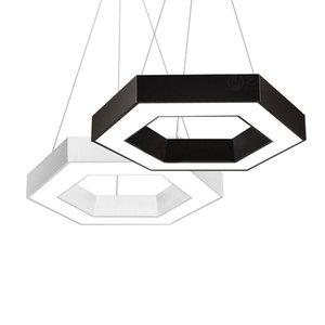 Hexagone LED Lampes suspension Lampe suspension moderne Accrocher salon Luminaire pour un restaurant Éclairage AC 85-265 Volts