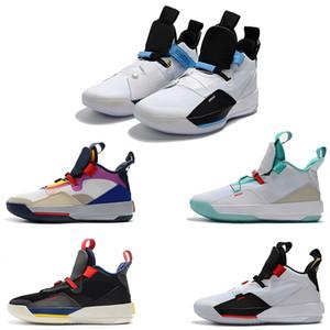 Nuovo Arriva Jumpman XXXIII 33 Scarpe da Basket uomo vendita a buon mercato Top Quality 33s Multicolor Nero scarpe da ginnastica da ginnastica blu Taglia 7-12