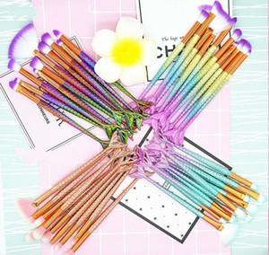 10 pcs Mermaid Cosmetic Brush Set Outil de maquillage multifonction pour fard à paupières poudre Blush Kit de maquillage