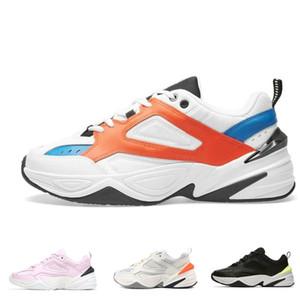 2018 Yeni Monarch IV 4 M2K Tekno Eğitmenler Tasarımcı Moda Eski Baba Ayakkabı Pembe Köpük Zapatillas Kalite Erkekler Kadınlar Klasik Sneakers Boyutu 36-45