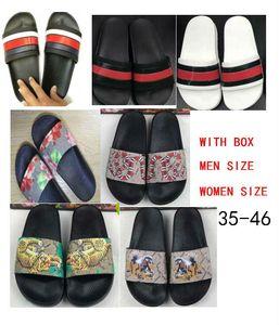 taille 35-46 2018 Top qualité femmes hommes pantoufles sandales clip de design flip style tigre imprimer diapositive sandale floral flip tongs