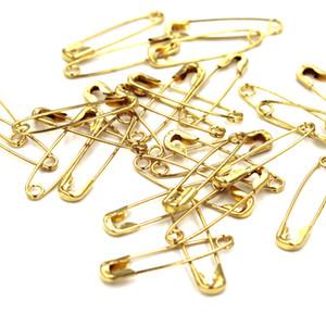 1700 قطع جودة عالية السلامة دبوس الذهب والفضة البرونزية دبابيس السلامة السوداء للملابس العلامات دبابيس طول (19 ملليمتر)