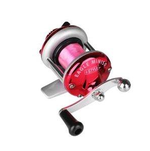 GUGUFISH 50 M Ligne Mini Métal Appât Casting Spinning Bateau Glace Pêche Moulinet Poisson Eau Roue Baitcast Rouleau Coil avec