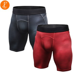Hombres 2 Pack Compression Running Shorts Culturismo Ezsskj Boys Ropa interior deportiva Pantalones deportivos Fitness Elasticity Tights Small Medium