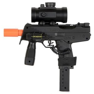 UZI AIRSOFT SPRING SMG PISTOL GUN (BB LASER SIGHT RED DOT SCOPE)