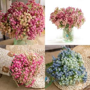 Babysbreath simulación flores plástico artificial flor falsa para favores de la boda de moda decoración del partido novia mano atada ramo 4df f f