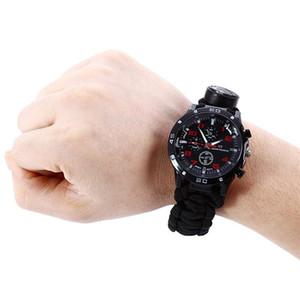 Семь основных шнуры наручные часы парашют веревка открытый зонтик веревки ткать компас наручные часы открытый выживания портативный прочный 18sw гг