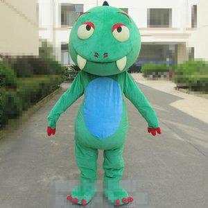 2018 Desconto venda de fábrica Tamanho adulto Dos Desenhos Animados Dianossauro Verde Traje Da Mascote Do Dia Das Bruxas de Natal Aniversário Selvagem Dianossauro Carnaval Vestido