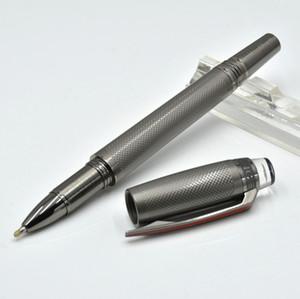 Bolígrafo de rodillo de revestimiento gris MB de alta calidad / bolígrafo con papelería de oficina Crystal Head Suministros plumas de recarga de lujo (SIN caja)
