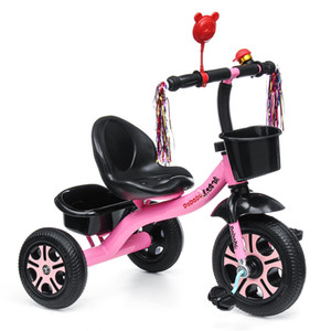 BIKIGHT 3 Wheels Kids Ride On Tricycle Bike Children Ride Toddler Balance Baby Mini Bike Safety