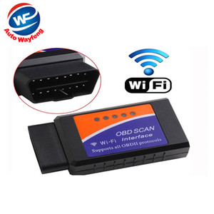 WiFi di prezzi di fabbrica ELM327 WiFi OBD 2 per Android 4.2 Auto DVD WiFi ELM327 OBD II Scanner Spedizione gratuita