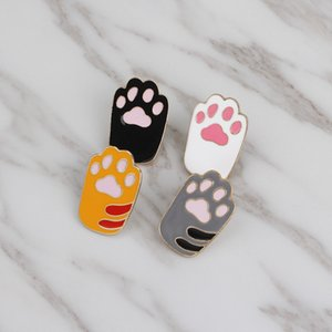 Brochespins Paw foot print enamel pin Cat dog paw jewely Lover jewells Animal lover رمز تزيين شارة حقيبة الظهر