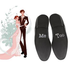 1 пара я делаю меня слишком свадебный стикер обуви жениха белый прозрачный горный хрусталь стикер свадебный декор