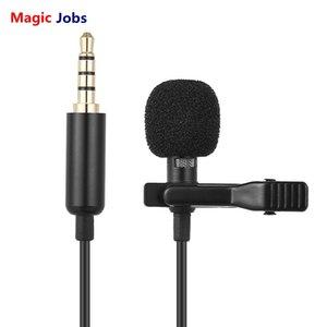 Magic_Jobs 1.45m Mini Portable Microphone À Condensateur Clip-on Lavalier Mic Câblé Mikrofo / Microfon Pour Téléphone DSLR Appareil Photo Portable