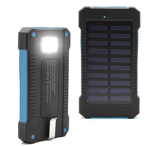 New Solar Power Bank double USB Power Bank avec la lumière LED réel 10000mAh bateria POWERBANK externe étanche Chargeur portable pour iphone x 8