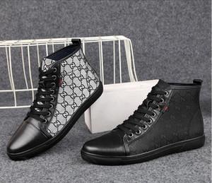 2019 novo estilo dos homens moda bordado top fashion sneakers imprimir sapatos casuais homens lace up sapatos de microfibra calçado masculino s661